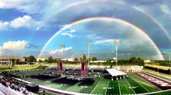 A rainbow on the EKU campus